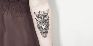 Búho por Terryemi Tattoo