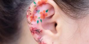 Flores pequeñas por Zihee Tattoo