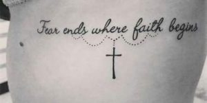 Frase: Fear ends where faith begins