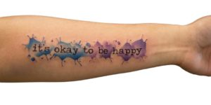 Frase: It´s okay to be happy por Georgia Grey