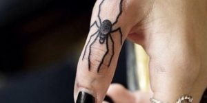 Araña en el dedo