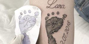 Huella bebé, nombre: Lara y fecha de nacimiento