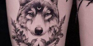 Lobo con la luna en la frente