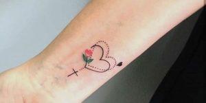 Corazón con cruz