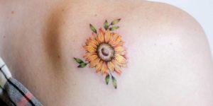 Flor de girasol por Luciana Periard Art Efeito