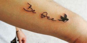 Frase: Be free por Yasmin Coiado