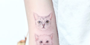Gatitos amistosos por Mini Tattoo