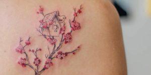 Árbol de flores de cerezo por Luciana Periard, Art Efeito