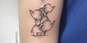 Elefantes haciendo equilibrio representando a los hijos por Michele Mercuri