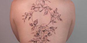 Enredadera de flores y luna por Hannah Nova Dudley