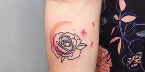Flor, luna y estrellas por Nawon Take My Muse