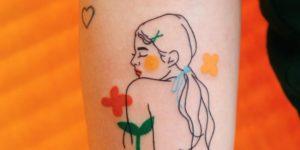 Silueta mujer entre flores por Nawon Take My Muse