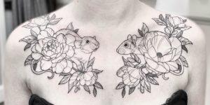 Ardillas y flores por Maret Brotkrumen