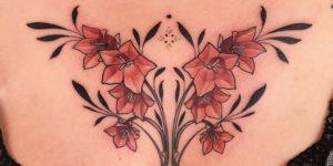 Flores lirios por Jen Tonic