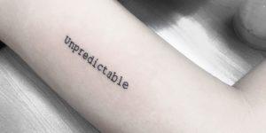 Frase: unpredictable