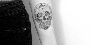 Calavera por Nena Tattoo, Diana Opazo