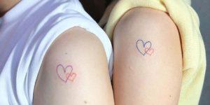 Corazones de Amistad por Howdy Tattoo