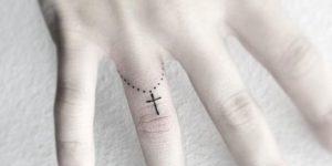 Denario con cruz pequeño