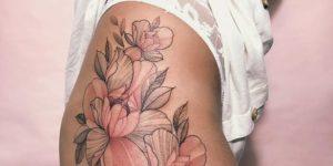 Flores rosas estilo papel