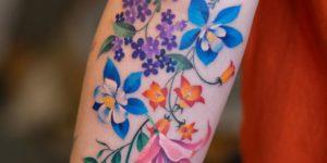 Ramillete de Flores por Zihee Tattoo