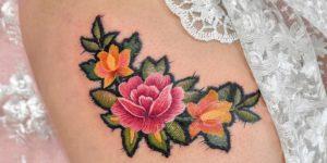 Flores como bordadas por María Fernanda Ramírez