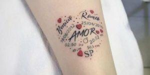 Corazón con los nombres de Hijos y Frase: Amor
