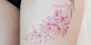Flores de Cerezo por Mini Tattoo