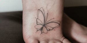 Mariposa aleteando