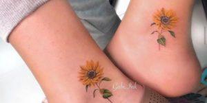 Flores de Girasol por Gabi Ink