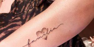 Frase: Familia y Corazón por Fabricia Bonatto
