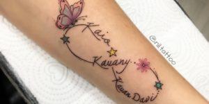Signo Infinito y Nombres de Hijos por Nil Tattoo