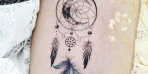 Atrapasueños lunar por Tattooist Dal