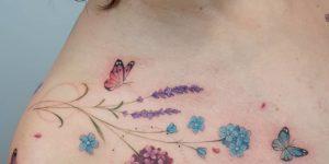 Flores silvestres y mariposas por Sil Dobbins