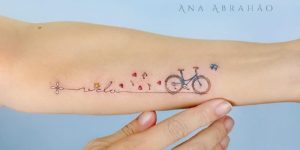 Frase: Vida por la bicicleta por Ana Abrahão