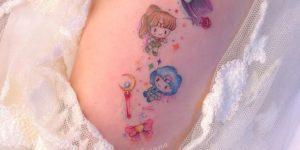 Sailor Moon: Mercury y Júpiter por Alynana Tattoos