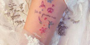 Frase: Yo te quiero más por Alynana Tattoos